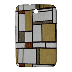 Fabric Textures Fabric Texture Vintage Blocks Rectangle Pattern Samsung Galaxy Note 8 0 N5100 Hardshell Case