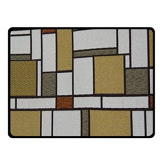Fabric Textures Fabric Texture Vintage Blocks Rectangle Pattern Double Sided Fleece Blanket (small)  by Simbadda