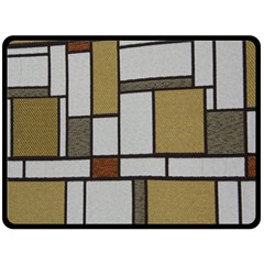 Fabric Textures Fabric Texture Vintage Blocks Rectangle Pattern Double Sided Fleece Blanket (large)  by Simbadda