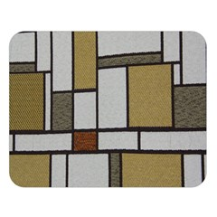 Fabric Textures Fabric Texture Vintage Blocks Rectangle Pattern Double Sided Flano Blanket (large)  by Simbadda