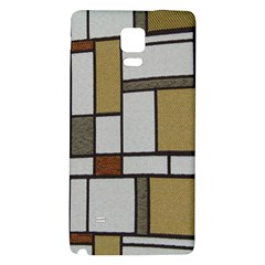 Fabric Textures Fabric Texture Vintage Blocks Rectangle Pattern Galaxy Note 4 Back Case