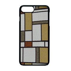Fabric Textures Fabric Texture Vintage Blocks Rectangle Pattern Apple Iphone 7 Plus Seamless Case (black)