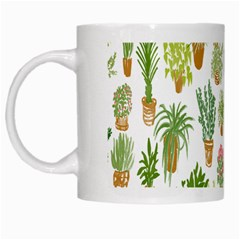 Flowers Pattern White Mugs