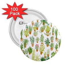 Flowers Pattern 2 25  Buttons (100 Pack)  by Simbadda