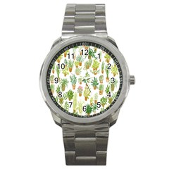 Flowers Pattern Sport Metal Watch by Simbadda