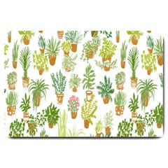 Flowers Pattern Large Doormat  by Simbadda