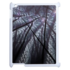 Fractal Art Picture Definition  Fractured Fractal Texture Apple Ipad 2 Case (white) by Simbadda