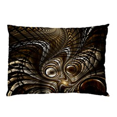 Fractal Art Texture Neuron Chaos Fracture Broken Synapse Pillow Case (two Sides) by Simbadda