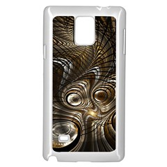 Fractal Art Texture Neuron Chaos Fracture Broken Synapse Samsung Galaxy Note 4 Case (white)