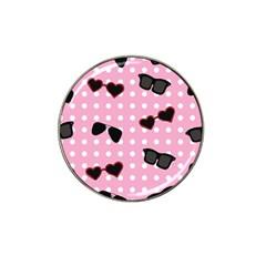 Pisunglass Tech Pink Pattern Hat Clip Ball Marker (4 Pack)