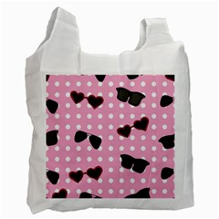 Pisunglass Tech Pink Pattern Recycle Bag (two Side)  by Simbadda