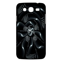 Fractal Disk Texture Black White Spiral Circle Abstract Tech Technologic Samsung Galaxy Mega 5 8 I9152 Hardshell Case  by Simbadda