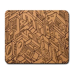 Mechanical Tech Pattern Large Mousepads by Simbadda