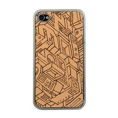 Mechanical Tech Pattern Apple Iphone 4 Case (clear) by Simbadda