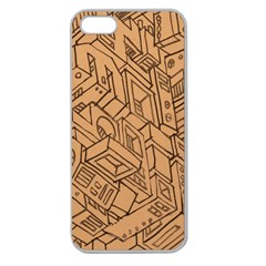 Mechanical Tech Pattern Apple Seamless Iphone 5 Case (clear)