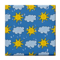 Sunshine Tech Blue Tile Coasters by Simbadda