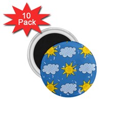 Sunshine Tech Blue 1 75  Magnets (10 Pack)