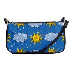 Sunshine Tech Blue Shoulder Clutch Bags by Simbadda