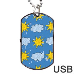 Sunshine Tech Blue Dog Tag Usb Flash (one Side) by Simbadda
