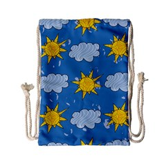 Sunshine Tech Blue Drawstring Bag (small) by Simbadda