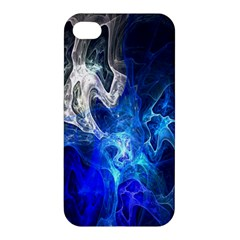 Ghost Fractal Texture Skull Ghostly White Blue Light Abstract Apple Iphone 4/4s Hardshell Case