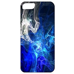 Ghost Fractal Texture Skull Ghostly White Blue Light Abstract Apple Iphone 5 Classic Hardshell Case