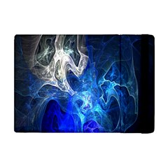 Ghost Fractal Texture Skull Ghostly White Blue Light Abstract Apple Ipad Mini Flip Case