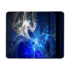 Ghost Fractal Texture Skull Ghostly White Blue Light Abstract Samsung Galaxy Tab Pro 8 4  Flip Case