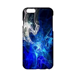 Ghost Fractal Texture Skull Ghostly White Blue Light Abstract Apple Iphone 6/6s Hardshell Case