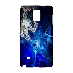 Ghost Fractal Texture Skull Ghostly White Blue Light Abstract Samsung Galaxy Note 4 Hardshell Case