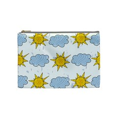 Sunshine Tech White Cosmetic Bag (medium)  by Simbadda