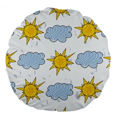 Sunshine Tech White Large 18  Premium Round Cushions