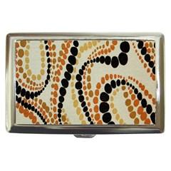 Polka Dot Texture Fabric 70s Orange Swirl Cloth Pattern Cigarette Money Cases by Simbadda