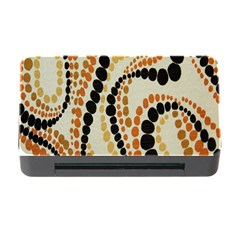 Polka Dot Texture Fabric 70s Orange Swirl Cloth Pattern Memory Card Reader With Cf by Simbadda