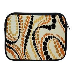Polka Dot Texture Fabric 70s Orange Swirl Cloth Pattern Apple Ipad 2/3/4 Zipper Cases by Simbadda