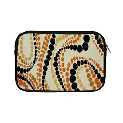 Polka Dot Texture Fabric 70s Orange Swirl Cloth Pattern Apple Ipad Mini Zipper Cases by Simbadda