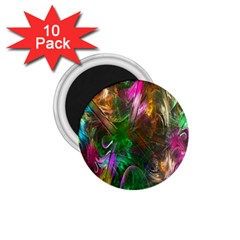 Fractal Texture Abstract Messy Light Color Swirl Bright 1 75  Magnets (10 Pack)  by Simbadda