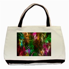 Fractal Texture Abstract Messy Light Color Swirl Bright Basic Tote Bag (two Sides) by Simbadda