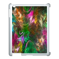 Fractal Texture Abstract Messy Light Color Swirl Bright Apple Ipad 3/4 Case (white) by Simbadda