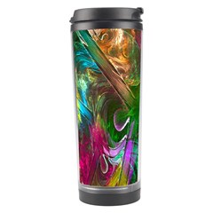 Fractal Texture Abstract Messy Light Color Swirl Bright Travel Tumbler by Simbadda