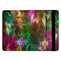 Fractal Texture Abstract Messy Light Color Swirl Bright Samsung Galaxy Tab Pro 12 2  Flip Case by Simbadda
