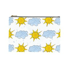 Sunshine Tech White Cosmetic Bag (large)  by Simbadda