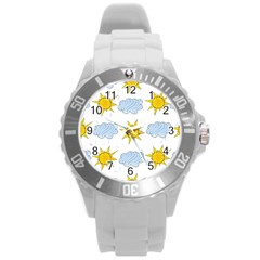 Sunshine Tech White Round Plastic Sport Watch (l) by Simbadda