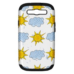Sunshine Tech White Samsung Galaxy S Iii Hardshell Case (pc+silicone) by Simbadda