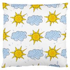 Sunshine Tech White Large Flano Cushion Case (one Side) by Simbadda