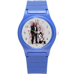 Say Please Round Plastic Sport Watch (s) by lvbart