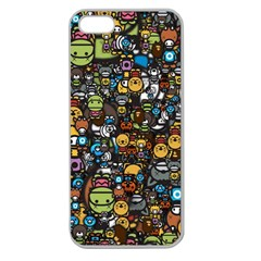 Many Funny Animals Apple Seamless Iphone 5 Case (clear) by Simbadda