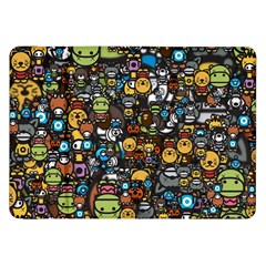 Many Funny Animals Samsung Galaxy Tab 8.9  P7300 Flip Case by Simbadda