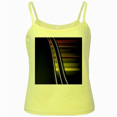 Abstract Multicolor Vectors Flow Lines Graphics Yellow Spaghetti Tank by Onesevenart