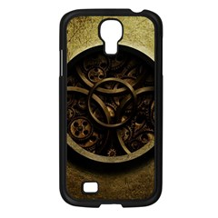 Abstract Steampunk Textures Golden Samsung Galaxy S4 I9500/ I9505 Case (black) by Onesevenart